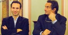 Da sinistra Giacomo Cosentino e il sindaco Attilio Fontana