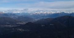 montagne sole inverno