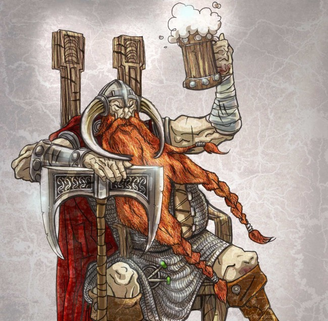 vichingo beve