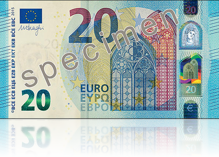 Nuova banconota da 20 Euro