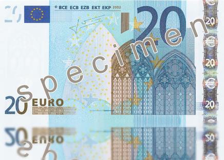 Banconota da 20 Euro attualmente in circolazione
