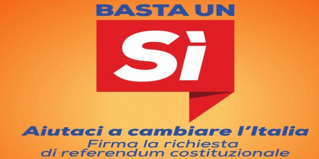 basta un sì referendum costituz