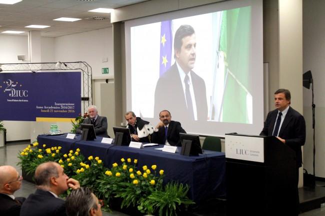 castellanza - liuc - ministro calenda all'inaugurazione anno acc